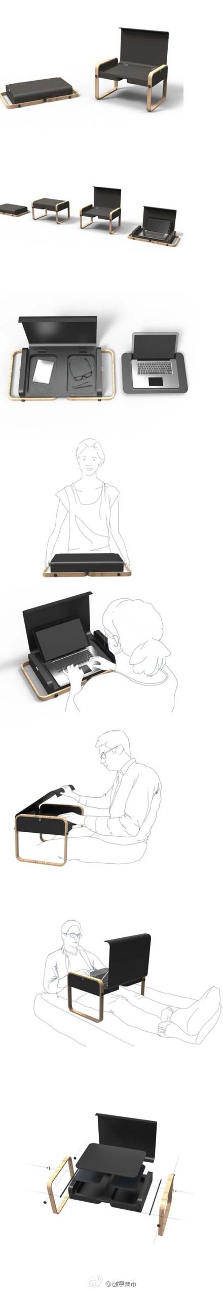 折叠电脑桌